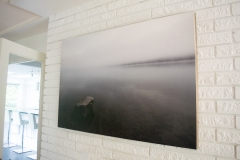 "silvered 48"" x 32"" limited edition archival print hand mounted on wood"