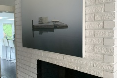 "stillness 48"" x 32"" limited edition archival print hand mounted on wood"